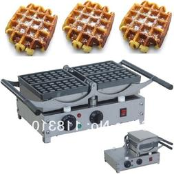 Turnable 220v Electric 4-Slice Belgian Liege Waffles Maker M