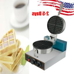 US 1250W 185mm Commercial Home Use Kitchen Waffle Maker Baki