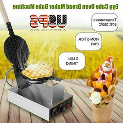 US PLUG ELECTRIC BUBBLE EGG CAKE MAKER OVEN WAFFLE BREAD KIT