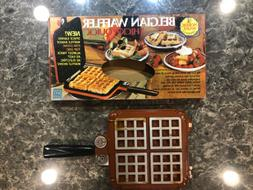 vintage poppy belgian waffler 15000 stove top