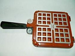 Vintage Nordic Ware Poppy Belgian Waffler 15000 Stove Top Wa