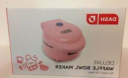 Dash Waffle Bowl Maker Machine 750 Watts Pink New