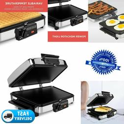Waffle Iron Griddle Sandwich Maker Indoor Grill 3-in-1 Nonst