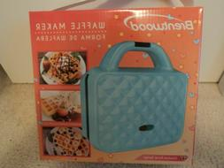 BRENTWOOD WAFFLE MAKER COUTURE PURSE DESIGN #TS-239BL NEW FR