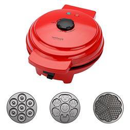 Finether Waffle Maker Machine, Multi-Plate Waffle Iron, Mini