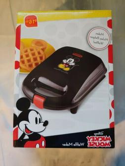 Disney Waffle Maker Mickey Mouse Shaped Black New in Box Fre