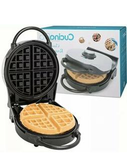 """Belgian Waffle Maker- Non-Stick 7.5"""" Waffler Iron w Patented"""