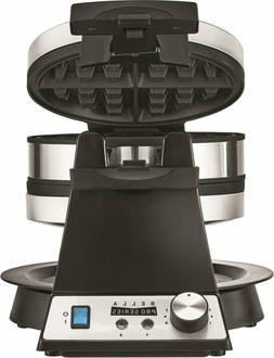 Waffle Maker Non Stick Integrated Timer Double Rotating Waff