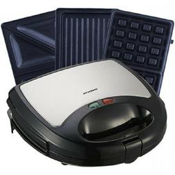 Ovente Waffle Maker with Non-Stick Waffle Grill Plates - BLA