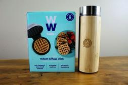 "Weight Watchers by Dash Mini Waffle Maker 4"" New & WW Stainl"